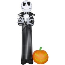 Airblown Inflatable Jack Skellington with Pumpkin 10ft tall by Gemmy Ind... - $126.10