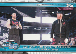Kevin Owens/Sami Zayn 2019 Topps WWE Road To Wrestlemania Card #71 - $0.99
