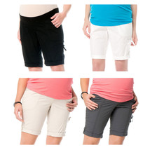 NWT Oh Baby by Motherhood Poplin Bermuda Shorts Maternity S-XL in 4 Colors - $24.99