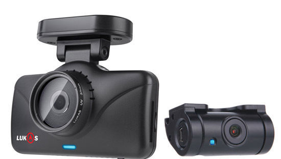 Lukas Lk-7950 WD FHD & FHD Wi-Fi Smart 2ch Dash Cam with GPS (8GB+8GB=16GB) NEW