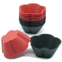 Black/Red silicone cupcake liners 12 pk  baking... - $19.95