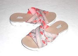 Skechers Goga Max Cross Strap Fabric Slide Sandal Women's Euro 37 US 7 - $26.44