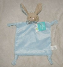 DANDEE DAN DEE BLUE BUNNY RABBIT SECURITY BLANKET LOVEY KNOT RATTLE TOY NWT - $44.54