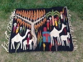 Vintage Egyptian Kilim 36x42 Inch Hand Made Wool Area Rug - $276.21