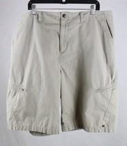 Quiksilver Mens Beige Zipper Cargo Shorts Tag Size 40, Measures 40 x 12 - $19.79