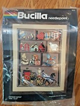 "Bucilla Needlepoint Kit Sealed Antique Hutch 12"" x 16"" New Old Stock USA 4519 - $22.76"