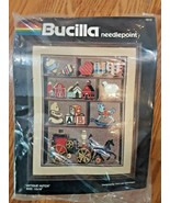 "Bucilla Needlepoint Kit Sealed Antique Hutch 12"" x 16"" New Old Stock USA... - $22.76"