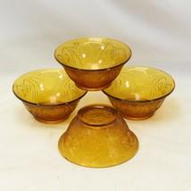 "Tiara Indiana Sandwich Glass Bowls 5.5"" Lot of 4 - $23.47"