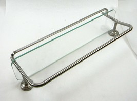 Delta 4 In. Glass Shelf With Towel Bar Rack In Brushed Nickel from FSS07-BN - $18.61