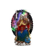 Pacific Giftware PT Seated Santa Muerte Saint Death Grim Reaper LED Colo... - $59.39