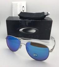 Polarized OAKLEY Sunglasses ELMONT M OO4119-0758 Chrome Satin w/Sapphire Iridium - $279.95