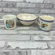 Wedgwood The World of Peter Rabbit 3 Piece Child Set 2 Mugs 1 Bowl - $13.58