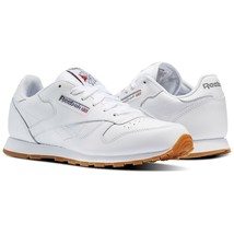 Reebok Classic GS CL V69624 White Gum Leather Shoes Youth 4Y-7Y - $45.09+
