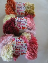 3 Skeins Lion Brand That 70s Yarn Funky Super Bulky Shaggy Chic NEW - $21.95