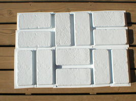 "15 Concrete Brick Paver Molds to Make 100s of #1151 6""x12"" Wall & Floor Tiles   image 4"
