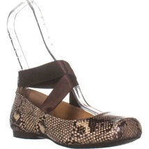 Jessica Simpson Mandalaye Ankle Strap Ballet Flats, Glossy Desert Snake Print, 8 - $47.99