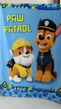 Paw Patrol child or toddler baby blanket Chase Rubble pawprints  30x40 - $29.69