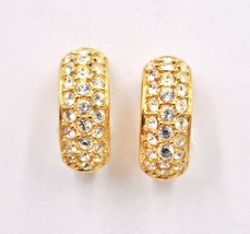 Swarovski Clear Crystal Rhinestone Huggie Clip On Earrings - $59.38