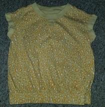 GAP KIDS Yellow Animal Print Pullover top Girls Size 6-7 - $1.88