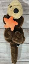 Unipak Plush Sea Otter with Shiny Orange Star Stuffed Animal Toy Brown 2... - $14.54