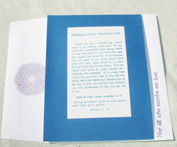 Vintage Inspired Fortune Telling Greeting Card - Handmade Handcrafted Card - $6.75
