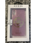 Guess Los Angeles Apple Iphone X/ XS Phone Hard Case Pink Glitter Slim S... - $14.84