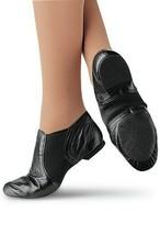 Capezio CG15 Stretch Jazz Ankle Boot Black Shoes Leather Size 4M 4 Medium - $27.83