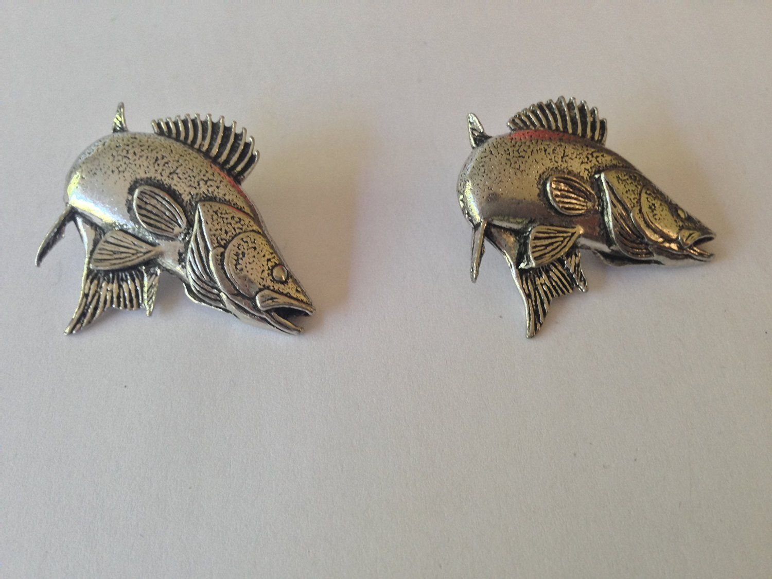 Zander walleye f24 fine english pewter fish cufflinks for Zander credit protection