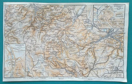 "1925 BAEDEKER MAP - GERMANY Harzburg Wernigerode Brocken 6 x 10"" (15 x 2... - $11.25"