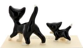 Hagen-Renaker Miniature Ceramic Cat Figurine Black and White Tuxedo Cat Set image 2