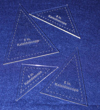 "4 Piece Set Kaleidoscope 6"" & 8"" Templates  Acrylic 1/8"" thick. Quilting... - $23.95"