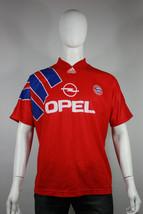 Vintage bayern munich jersey 40 42 adidas shirt home opel vtg 1991 91 - £38.20 GBP