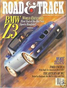 Primary image for Road & Track  Magazine January  1996