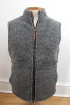 Best Made Co S Gray Wool Fleece Sherpa Full Zip Vest Jacket - $87.40
