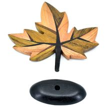 Northwoods Handmade Wooden Parquetry Canadian Maple Leaf Sculpture Figurine image 6