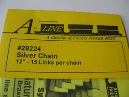 """A-Line #29224 Silver Chain 12"""" - 15 Links per inch image 2"""