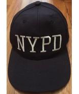 Official NYPD NY Collegiate USA Men Dark Blue Baseball Hat Ball Cap Adju... - $14.99