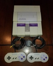 Super Nintendo SNES Console with 2 Controllers, Manual, and Cables **Inv... - $69.49