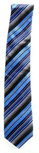 Alfani Spectrum Men's AF0406P7 Henry Stripe Neck Tie Blue / Multi