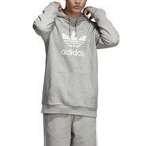 Adidas Men's Originals Trefoil Hoodie Medium Grey Heather DT7963 - $69.95