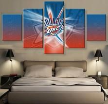 5pcs oklahoma city thunder printed canvas wall art picture home decor thumb200
