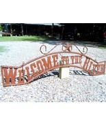 Metal Welcome to the RIVER Sign Wall Entry Gate EXTRA LARGE 56 1/2 inch bz - $179.98