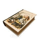 The Shower of Cards from Alice in Wonderland Book Box Leather Over Wood - £18.14 GBP