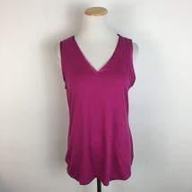 Banana Republic Women's Pink Scoopneck Sleeveless Tank Top Shirt Size Large - $16.19