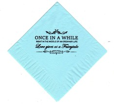ONCE IN A WHILE 50 printed cocktail beverage napkins pick napkin and fon... - $10.88+
