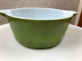 Vintage Pyrex Green Cinderella Bowls: 2½ Qt  Casserole 475 - $12.16