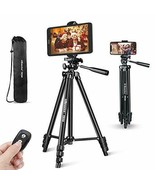 Phone Tripod, 50'' Extendable Lightweight Aluminum Tripod Stand with Uni... - $44.99