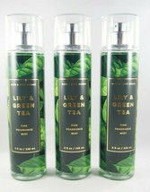 (3) Bath & Body Works Lily & Green Tea Fragrance Body Spray Mist 8oz New - $33.15