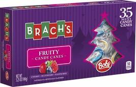 Brach's* 35pc Mini Candy Canes Holiday Fruity Cherry+Blueberry+Raspberry Ex.8/20 - $3.29