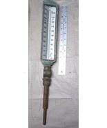 Vintage Moeller Instrument Encased Thermometer Industrial with Swing Bra... - $69.97